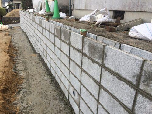 型枠ブロック施工状況2