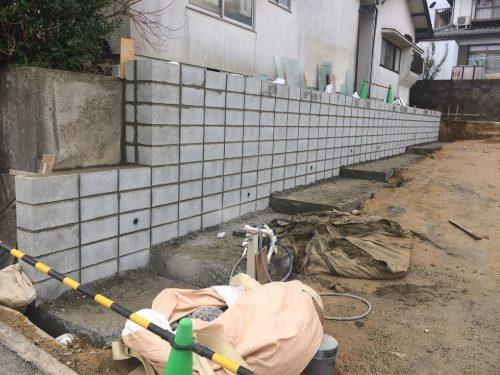 型枠ブロック施工状況1